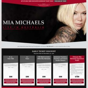 Mia Michaels Dance Choregrapher